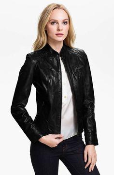 Leather Sleek Moto Jacket