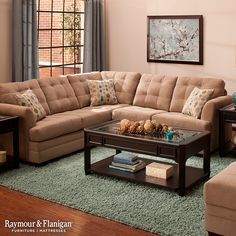 When it comes to comfy and stylish living room furniture youu0027d be hard pressed to find a piece more suitable than this Hayden 2-piece sectional sofa. : sectional sofas raymour and flanigan - Sectionals, Sofas & Couches