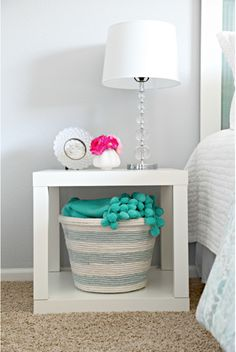 Turn a regular ol' laundry basket into chic storage. Sometimes all it takes is a pretty exterior to make you get organized. Here, light blue and white rope transforms a dollar-store laundry bin into a sweet and purposeful accessory. Click through for more on this and other Dollar Store home organization hacks.