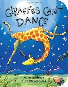 Giraffes Can't Dance by Giles Andreae. Giraffes Can't Dance is a touching tale of Gerald the giraffe, who wants nothing more than to dance. With crooked knees and thin legs, it's harder for a giraffe than you would think. Gerald is finally able to dance to his own tune when he gets some encouraging words from an unlikely friend. With light-footed rhymes and high-stepping illustrations, this tale is gentle inspiration for every child with dreams of greatness.