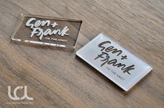 Custom Laser Engraved Clear Acrylic Business Cards - Laser Cutting Lab, LLC specializes in custom engraving of acrylic business cards.