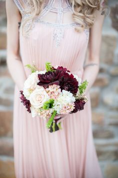 Pretty plum petals: http://www.stylemepretty.com/2014/12/26/20-bouquets-for-a-winter-wedding/