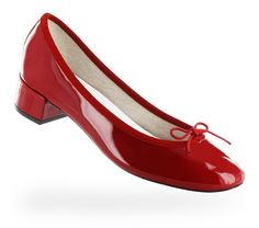 Ballerine Camille - Vernis Rouge flamme - Repetto