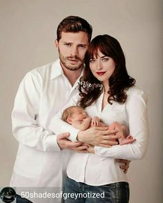 """""""❤️Christian and Ana with Teddy❤️"""" 50 Shades Trilogy, Fifty Shades Series, Fifty Shades Movie, Fifty Shades Darker, Fifty Shades Of Grey, Shades Of Black, Jamie Dornan, Fifty Shades Quotes, Cristian Grey"""