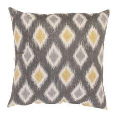 Rodrigo 18-inch Throw Pillow (Graphite/Greenish-Yellow), Green, Size 18 x 18 (Cotton, Geometric)