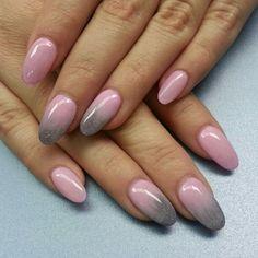 Grey And Pink Ombré Nail Design Beautiful Nails Nails Nail