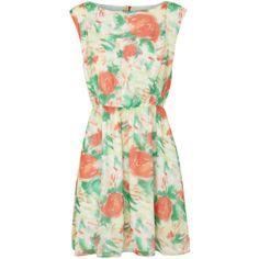 alice and olivia Matilda Printed Silk Chiffon Dress ($560) found on Polyvore