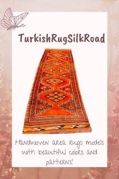 Herki runner rug, Orange vintage rug 2.6 x 10.6 Turkish rug, Boho decorative rug, Corridor rug, Hallway rug, Stair rug, Home decor Rug Loom, 4x6 Rugs, Stair Rugs, Rustic Rugs, Hallway Rug, Bohemian Rug, Boho, Tribal Rug, Rugs In Living Room