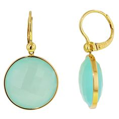 Come in to the Dabakarov Trunk show at Day's Jewelers in Waterville May 1 & 2 and try on these Dabakarov Aqua Chalcedony Earrings in 14kt Yellow Gold or any Dabakarov piece and you'll be entered to win a piece of your choice up to $595! ~KSL