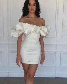 Simple Dresses, Pretty Dresses, Short Dresses, Prom Dresses, Dress Prom, Ladies Party Dresses, Dress Wedding, Birthday Dresses For Women, White Birthday Dress