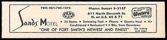 Sands Motel Ad Fort Smith Arkansas AC Pool TV Phone 1964 Roadside Ad Travel
