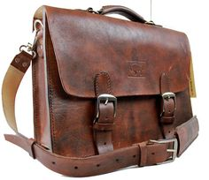 Rustic Distressed Leather Messenger Bag  by WhiteBuffaloRepublic, $179.99