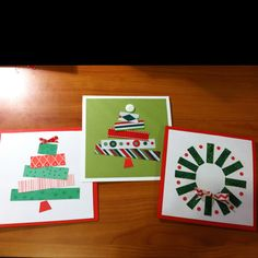 These ideas could be cool on our brown paper bags! Simple Christmas Cards, Christmas Art, Winter Christmas, Christmas Ideas, Christmas Gifts, Christmas Decorations, Xmas, Scrapbook Paper Crafts, Scrapbook Cards