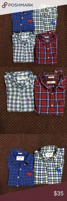 Boys Abercrombie shirts bundle Bundle of 4 boys Abercrombie kids medium size muscle shirts.all are only worn a few times. abercrombie kids Shirts & Tops Button Down Shirts