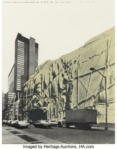 Prints:Contemporary, CHRISTO (Bulgarian/American, b. 1935). Museum of Modern ArtWrapped (Project for the MoMA, New York, June 1968), 1971. O...