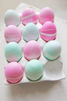 Ostereier | färben | Pastell | geometrische Muster