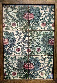 Six-tile panel by William de Morgan, England (in the Birmingham Museum, England)