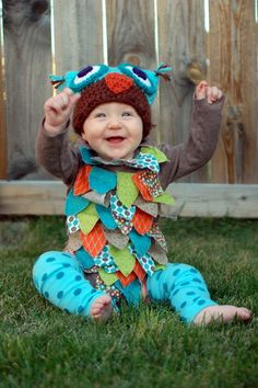 How to make an infant football costume holiday time pinterest crochet owl hat and costume solutioingenieria Choice Image