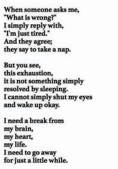 This made me think of you, and while going away would help me, going away with you (only you) would be even better. Although I'm sure it wouldn't help you much. Lol