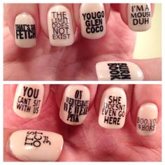 Mean Girls Quotes Nail Decals by PaipurNails on Etsy, $4.00