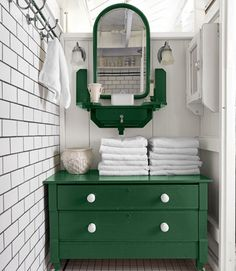 Colorful Bathroom Cabinets