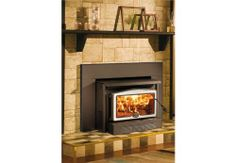 WOOD STOVE OPTIONS:   Osburn 2400 Insert - High Efficiency EPA Wood Insert,   EPA approved wood insert with a heating capacity of up to 2,700 square feet,     12.5 of clearance in the firebox, and a burn time of up to 10 hours!