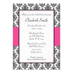 >>>Coupon Code          	Black and Pink Damask Bridal Shower Invitation           	Black and Pink Damask Bridal Shower Invitation today price drop and special promotion. Get The best buyThis Deals          	Black and Pink Damask Bridal Shower Invitation Here a great deal...Cleck Hot Deals >>> http://www.zazzle.com/black_and_pink_damask_bridal_shower_invitation-161082348926614644?rf=238627982471231924&zbar=1&tc=terrest