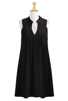 Another fun dress...just wish it came in more colors./Cotton knit embellished tunic dress