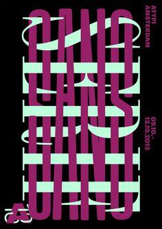 Vincent Vrints (designed at Studio Dumbar), Atypi Amsterdam, poster