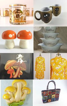 Mushrooms to go! by Claudia on Etsy--Pinned with TreasuryPin.com