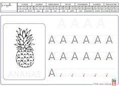 Graphisme : les capitales Des fiches d'écriture pour apprendre à écrire les lettres capitales.