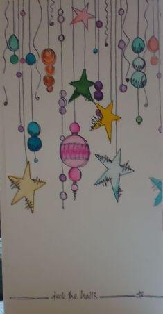 aquarell - weihnachtskarte