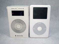 Ipod and transistor radio