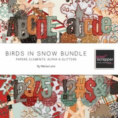 Wishlist!  Birds in Snow kit bundle by Marisa Lerin | Pixel Scrapper digital scrapbooking