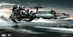 Imperial heavy recon speeder bike