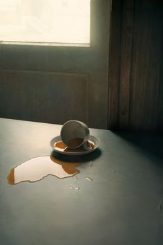 Don't cry over spilled milk... but spilled coffee is another story