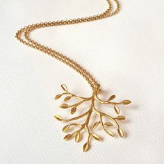 gold tree necklace by belle ami | notonthehighstreet.com