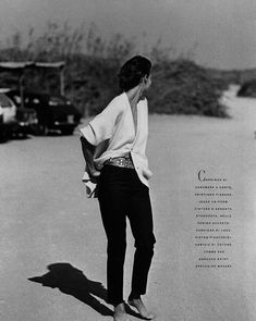 Linda Evangelista by Peter Lindbergh for Vogue Italia October 1988