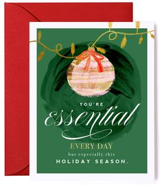 Essential Worker Thank You Holiday Card
