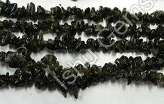 20 Strand #Natural #Smoky Quartz #Chips 32 Inch, Approx-6-7mm, Weight In Cts: 3410, $52,   RS.3172