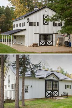 45 Durable & Beautiful Steel Homes That You Have To See Steel homes are on their uptrend currently, because they have long life time, are very durable, fast to built and eye-catching too! Metal Barn Homes, Metal Building Homes, Pole Barn Homes, Building A House, Build House, Building Ideas, Steel Frame House, A Frame House, Steel House