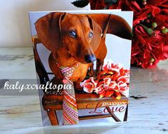Puppy Love Dachshund Valentine Card