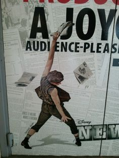 Newsies on Broadway- I can't really tell who this is but are they alright..? lol