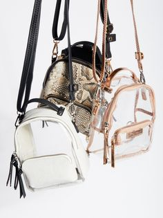 Clear Glitter / Pink Luna Convertible Backpack at Free People Clothing Boutique Fashion Bags, Fashion Backpack, Fashion Accessories, Jewelry Accessories, Mini Backpack, Backpack Bags, My Bags, Purses And Bags, Mini Mochila