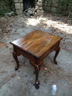 stained table