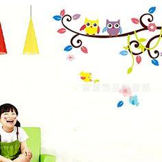 Nursery Baby Room DIY Cartoon Tree Owl Wall Stickers Home Decoration Vinyl Art HuaYangca http://www.amazon.ca/dp/B00NOFN4GA/ref=cm_sw_r_pi_dp_eez4ub1QAVGWQ