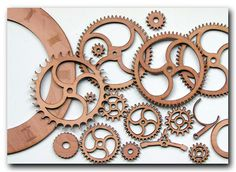 Laser cut clock wheels