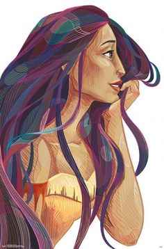 Pocahontas - Stylized, Size: inch x 34 inch Disney Pictures, Cute Disney, Disney Artwork, Disney Pocahontas, Disney Princess Fan Art, Disney Princess Drawings, Disney Paintings, Cute Disney Wallpaper, Disney Animation