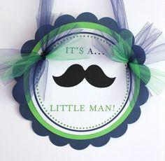 It's a little man  mustache  door sign by SweetEventsBoutique