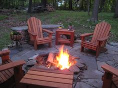 Captivating Oregon Patio Works Adirondack Chairs.